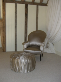 Bedroom chair and footstool