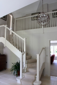Galleried stairs and landing