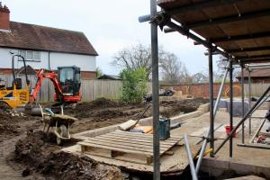 Garden work begins