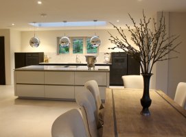 Immaculate finishes in the kitchen dining room