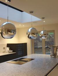 Statement lighting in the kitchen