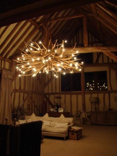 Bespoke oak chandelier