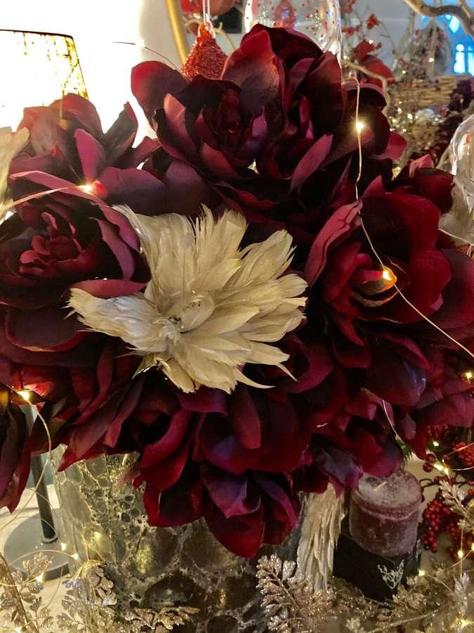 Winter faux-flowers