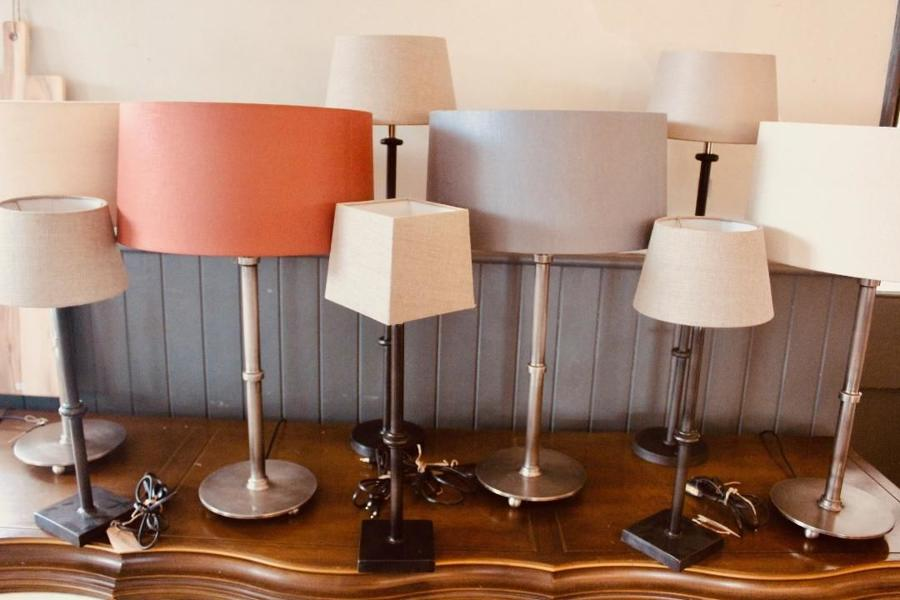 'Button' table lamps