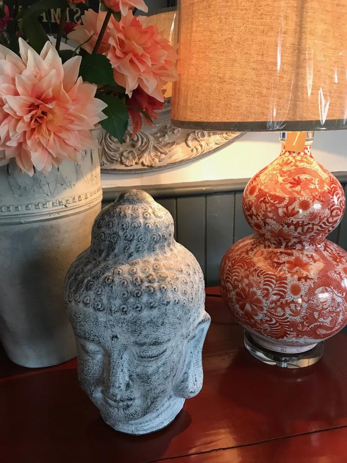 Ceramic and glass table lamps