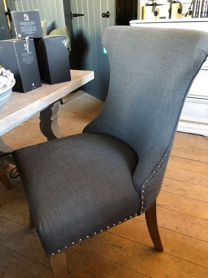 Linen dining chairs