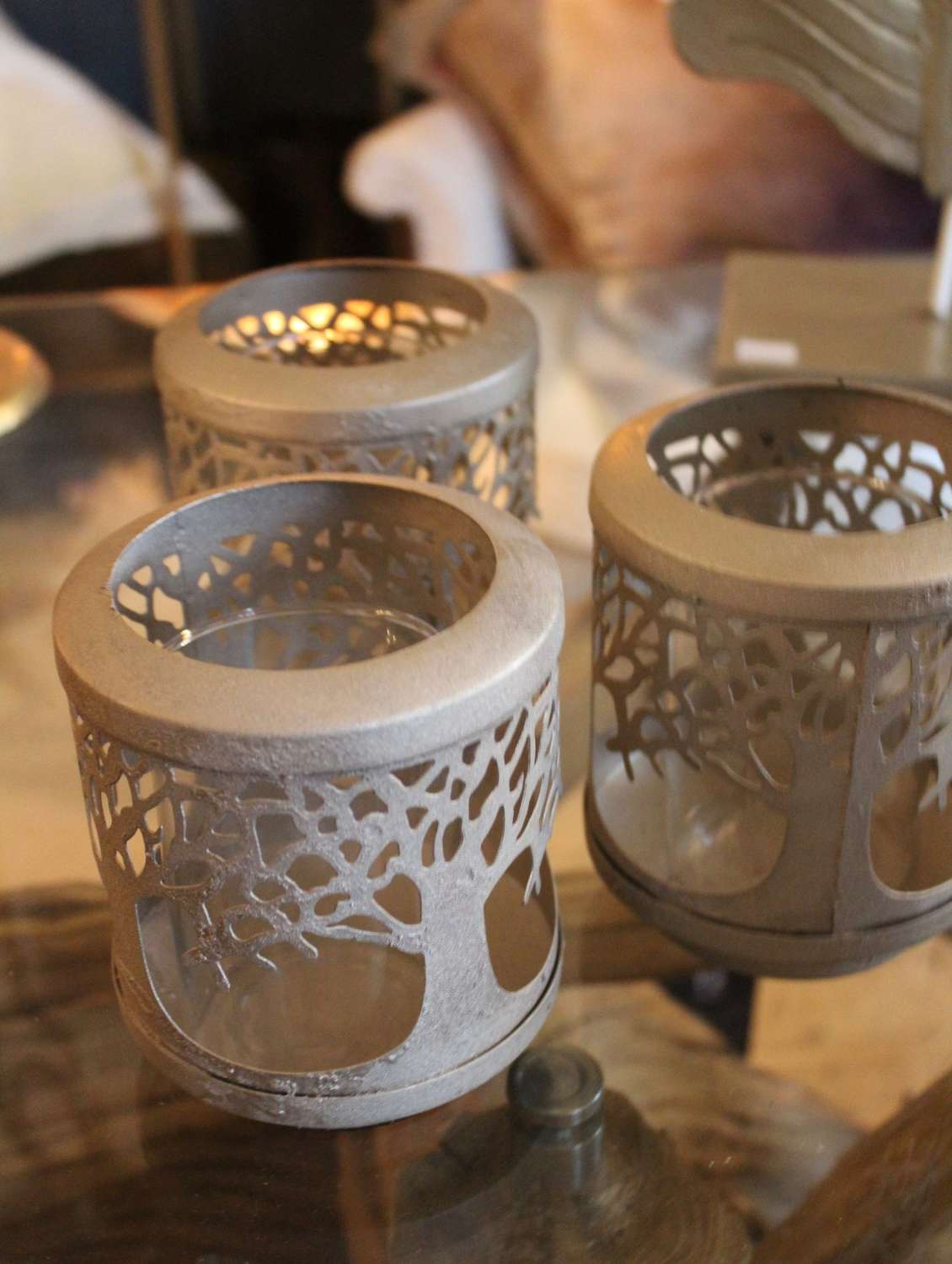 Champagne gold candle holder