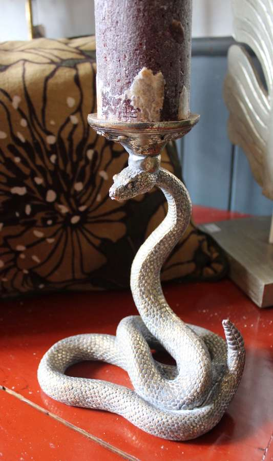 Snake candle holders