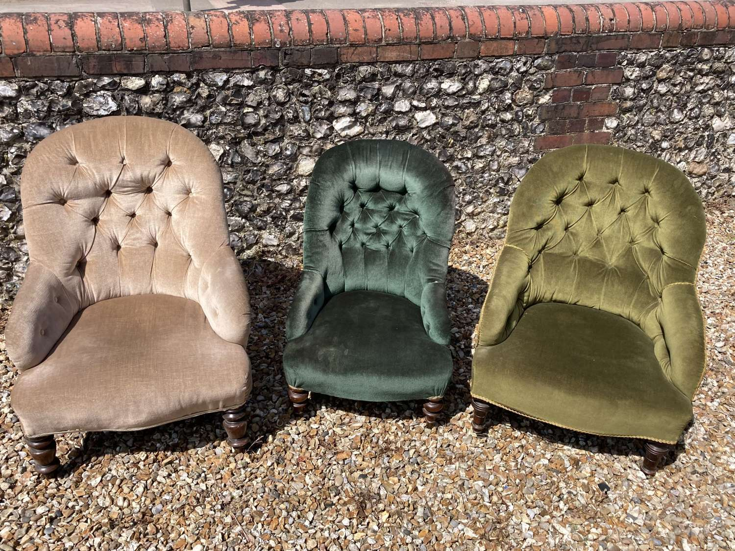 Vintage Button Back Chairs